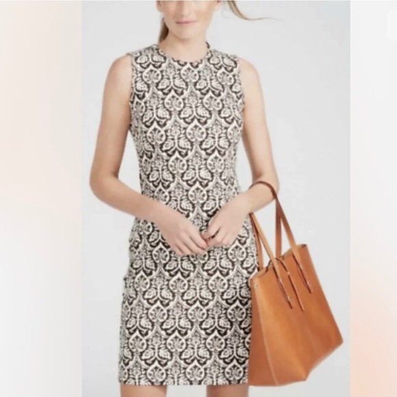 J. McLaughlin Devon Bainbridge Damask Sheath Dress